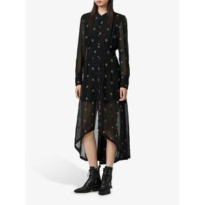 All Saints Liza Cyla Evening Beaded Midi Dress L